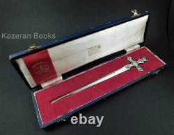 Vintage Solid Sterling Silver Queen Elizabeth II Coronation Letter Opener & Box