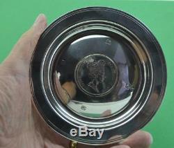 Vintage Sterling Silver Queen Elizabeth II Silver Jubilee (1952-1977) Coin Dish