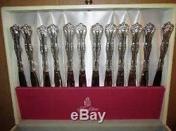 Vtg NATIONAL SILVER Queen Elizabeth Pattern Silverplate 93 pc Set J564