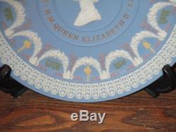 Wedgwood 5 Colour Silver Jubilee Queen Elizabeth II Plate/ Plaque Ltd Ed 543/750