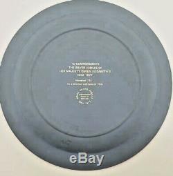 Wedgwood 5-color JASPERWARE RARE Queen Elizabeth Silver Jubilee 1977 Plate MINT