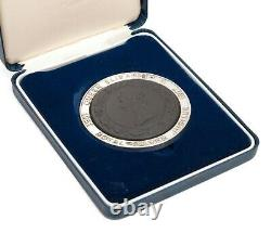 Wedgwood Black Basalt and Solid Silver Queen Elizabeth II Jubilee Medallion
