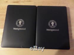 Wedgwood Blue Jasper Plaques Queen Elizabeth II & Prince Philip Silver Jubilee