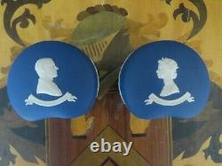 Wedgwood Blue Jasper Queen Elizabeth II Duke Edinburgh Silver Jubilee Bean Boxes