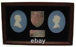 Wedgwood Jasper Silver Jubilee Queen Elizabeth II Plaque CLT628