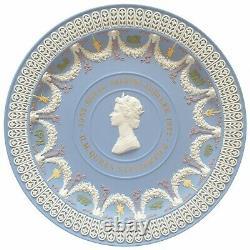 Wedgwood Jasperware HM Queen Elizabeth Silver Jubilee Trophy Plate Five Colours