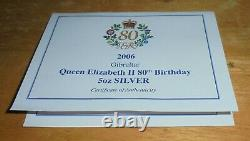 Westminster Queen Elizabeth II 80th Silver Proof 5oz 2006 with Box & COA
