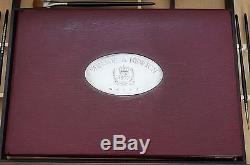 Winsor & Newton Queen Elizabeth Calamander Wood 1977 Sterling Silver Artist Box