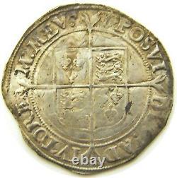 Wonderful Queen Elizabeth I Tudor Silver Shilling 1560 1561 AD